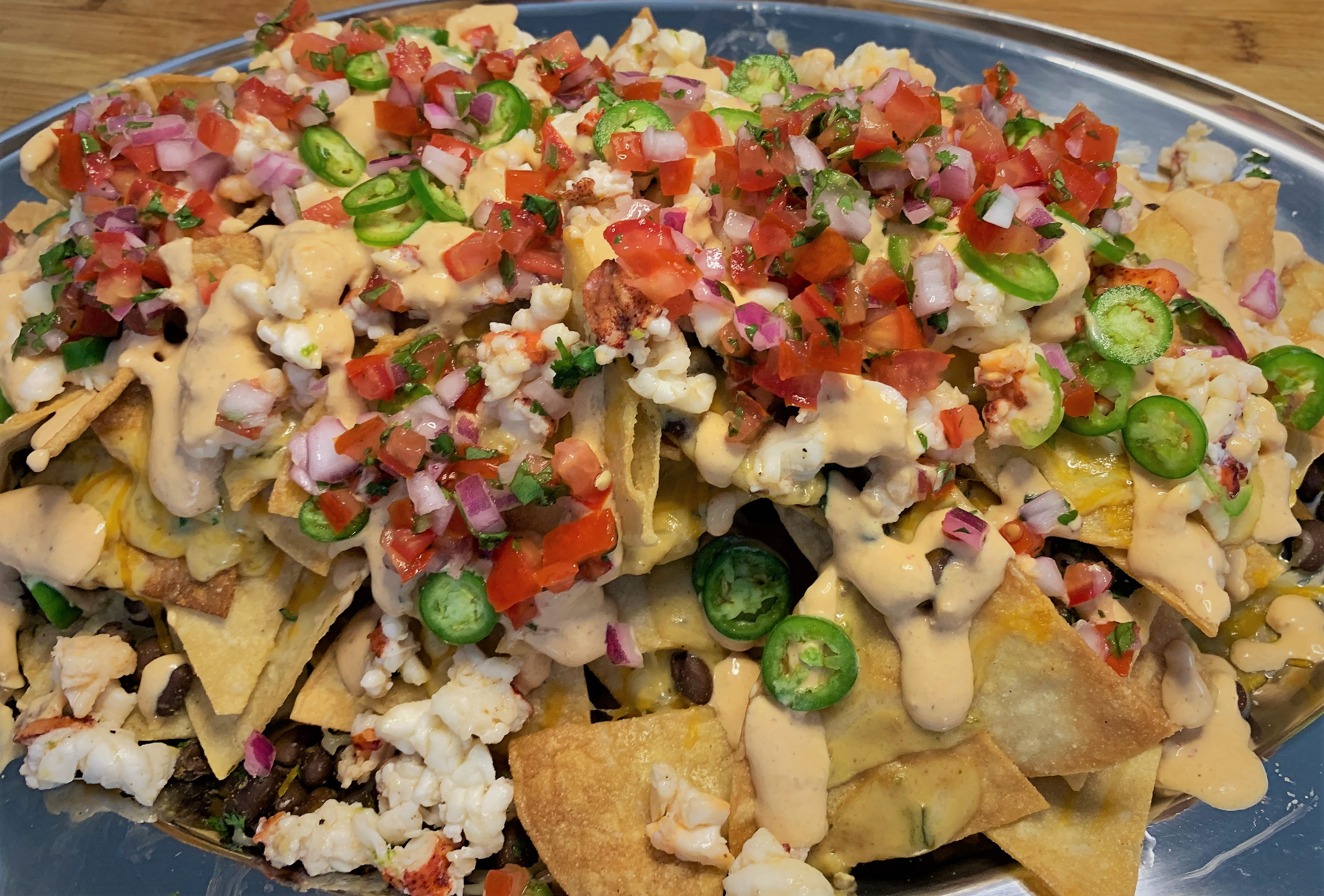 Our completed Lobster Nachos - Lamplight Lounge - Disney California Adventure Park