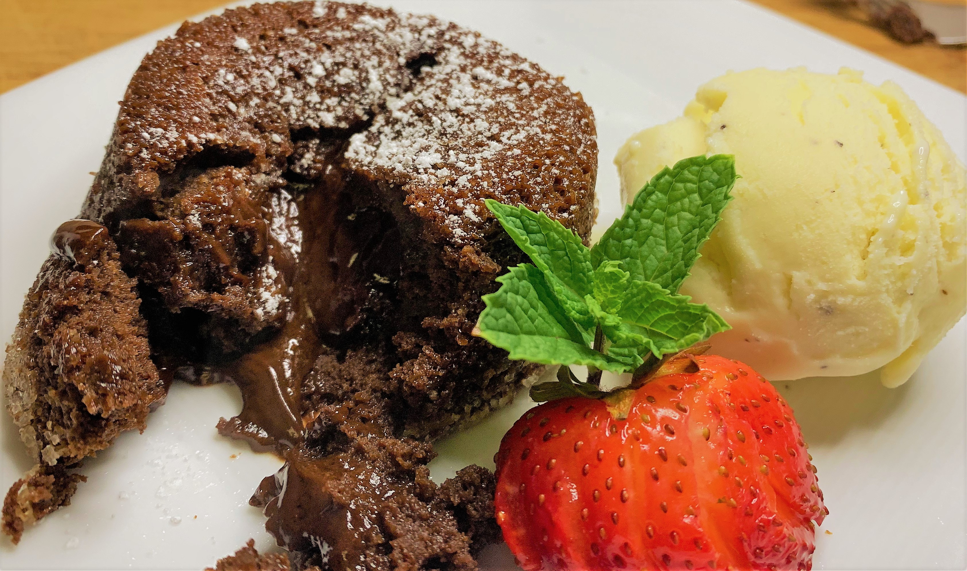 Luxurious goodness flowing from our Molten Chocolate Cake
