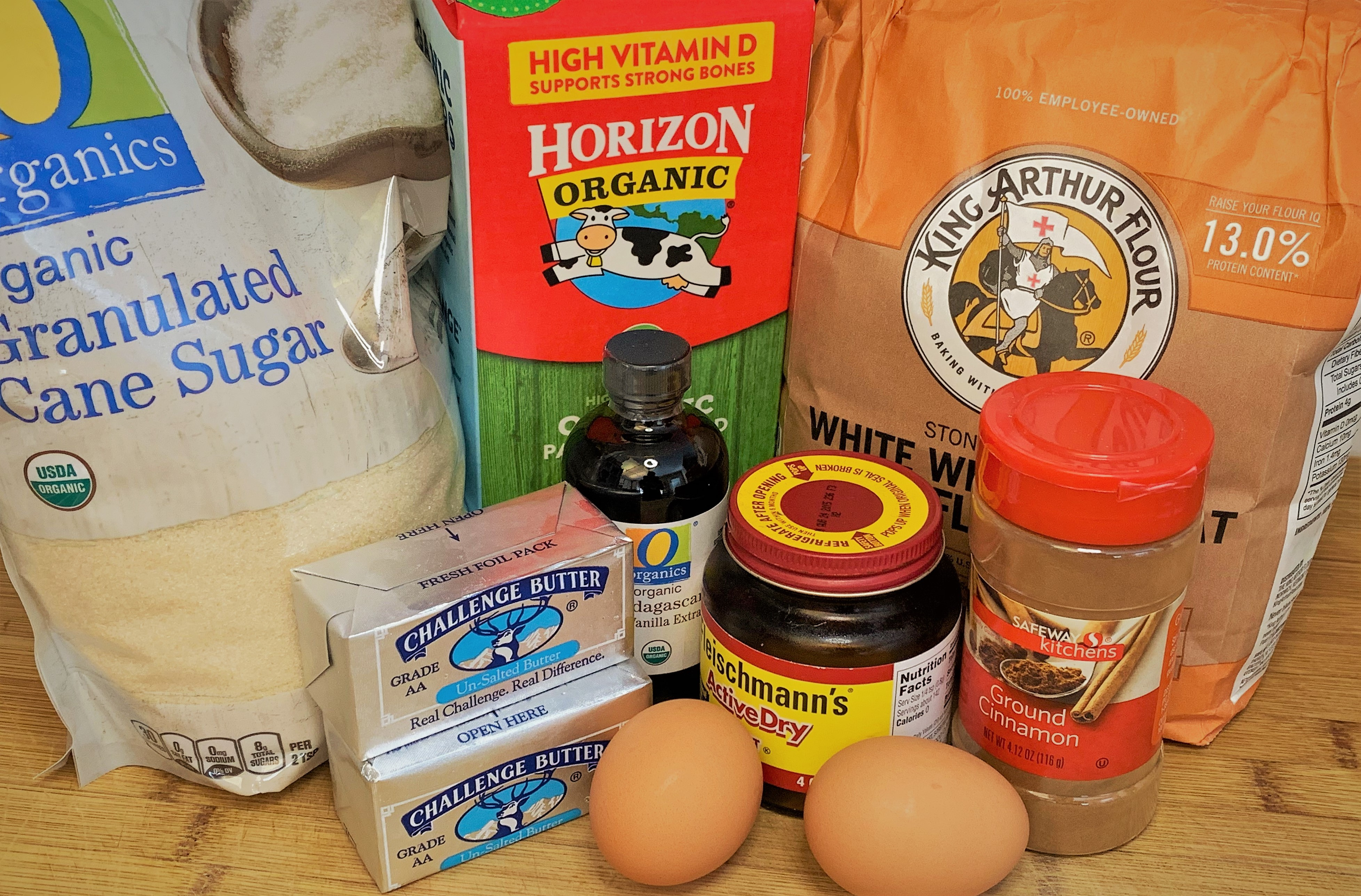 The ingredients for our Croissant Doughnuts