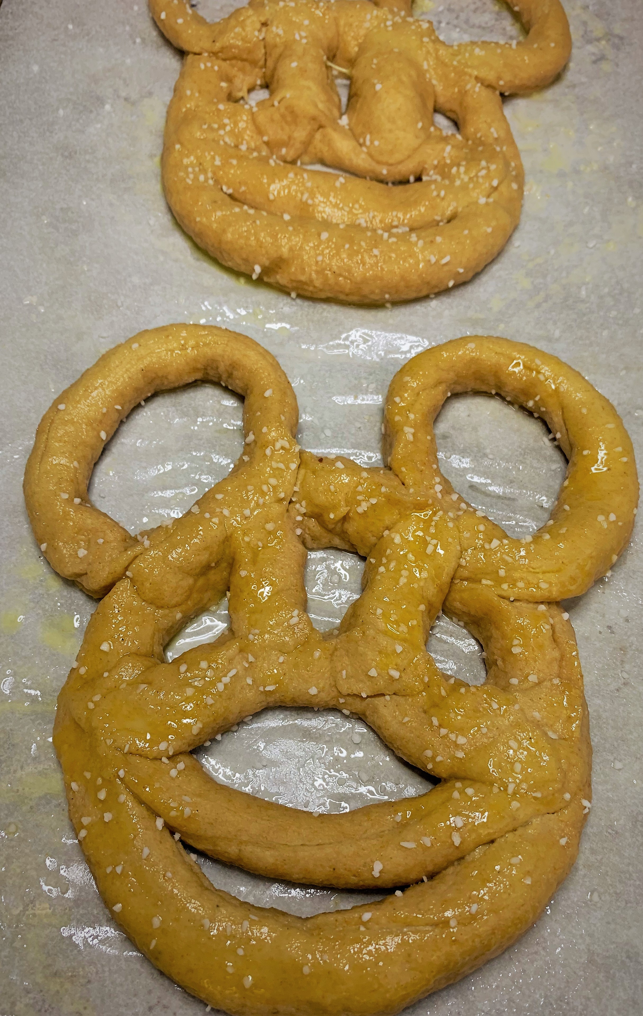 "Our ""boiled"" Mickey Pretzels"
