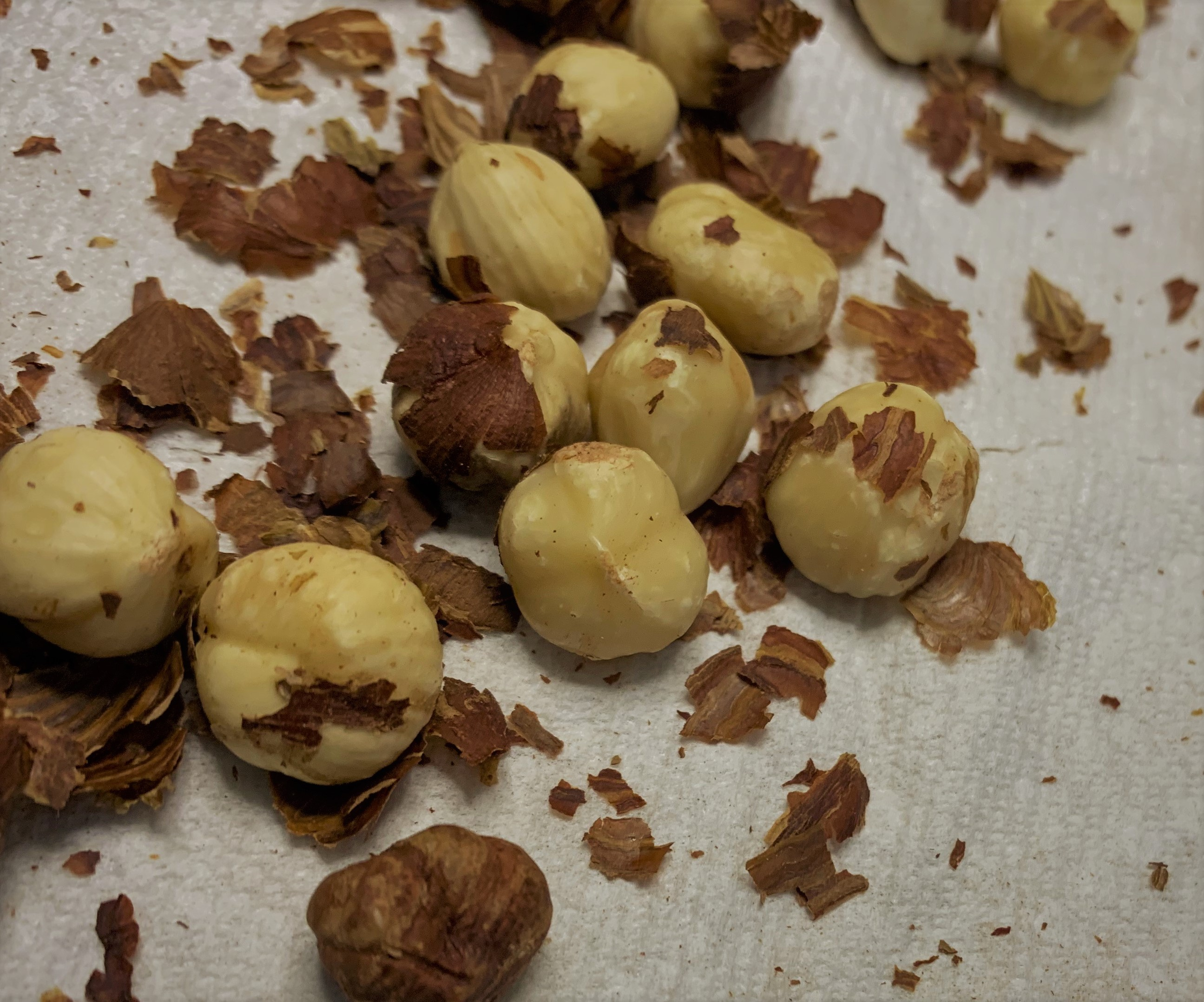 Peeling the Hazelnuts