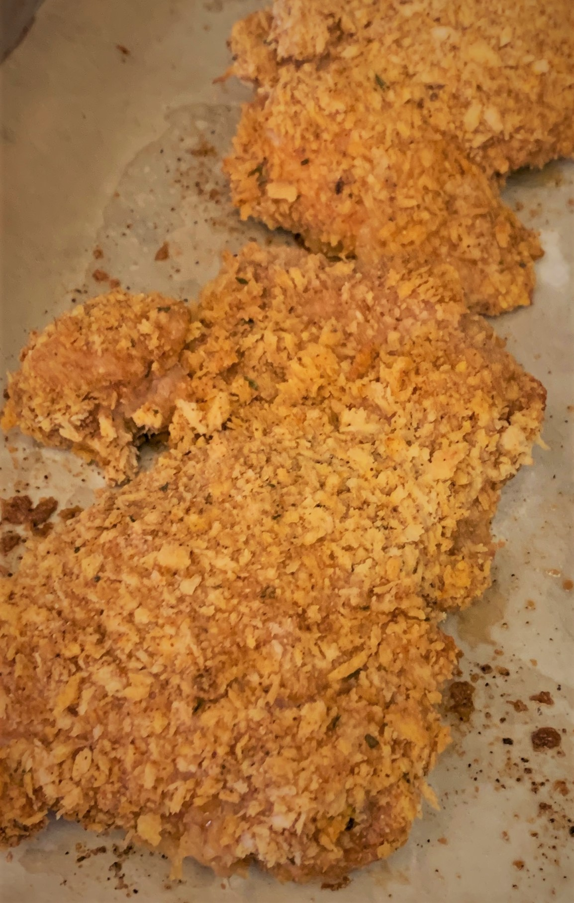 "Our fully roasted Oven ""Fried"" Chicken"