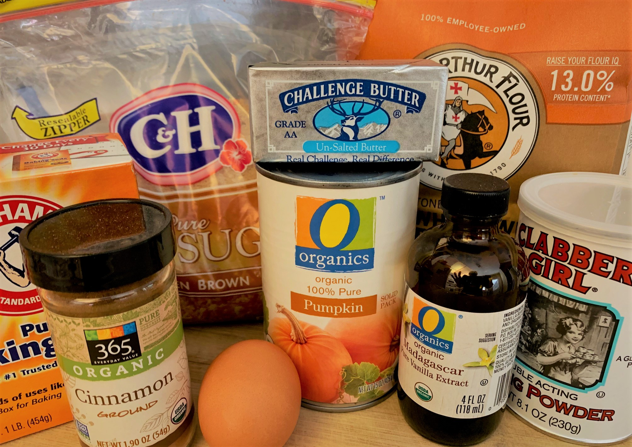 The ingredients for our Pumpkin Mickey Whoopie Pies