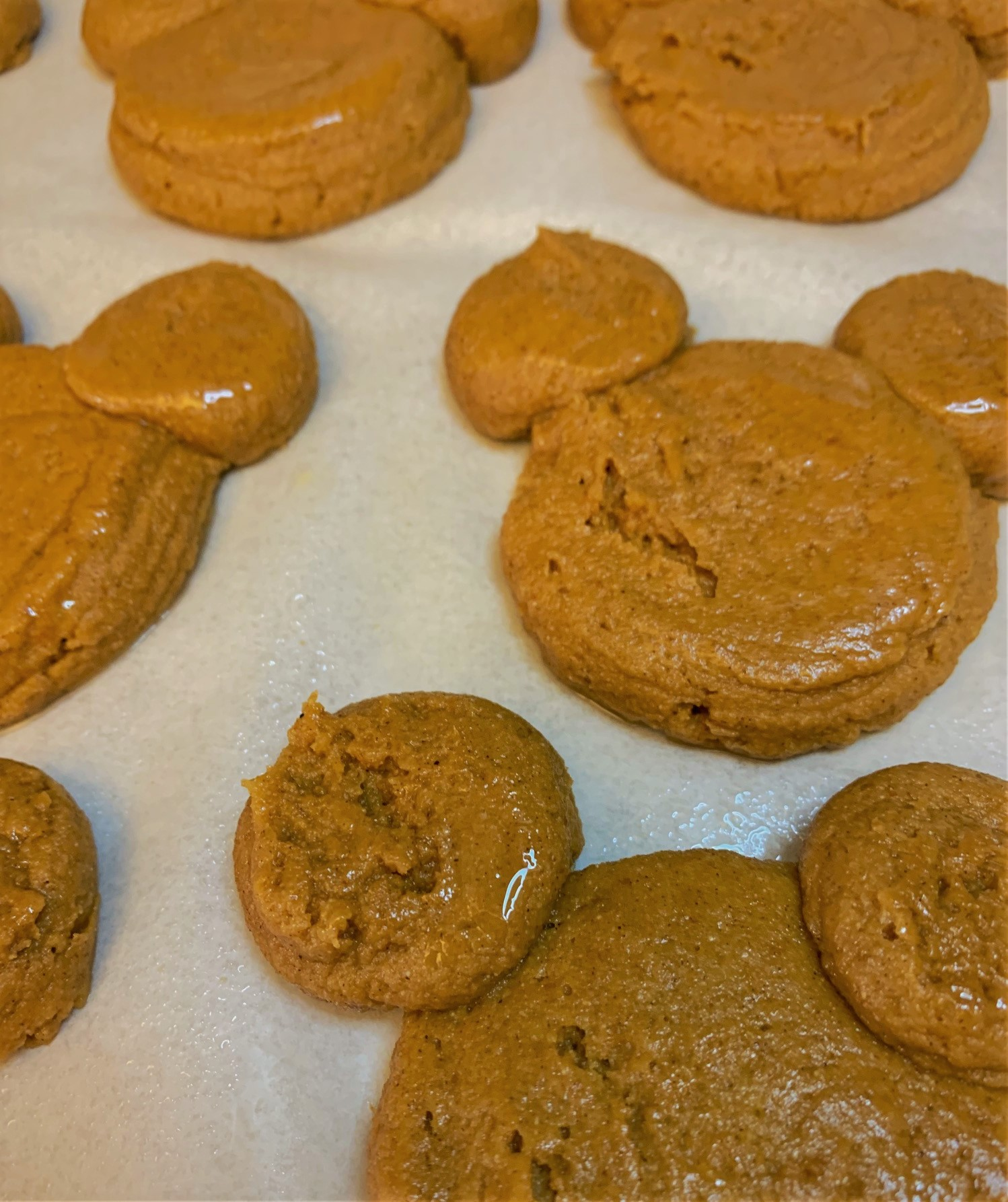 Our pre-baked Pumpkin Mickey Whoopie Pies