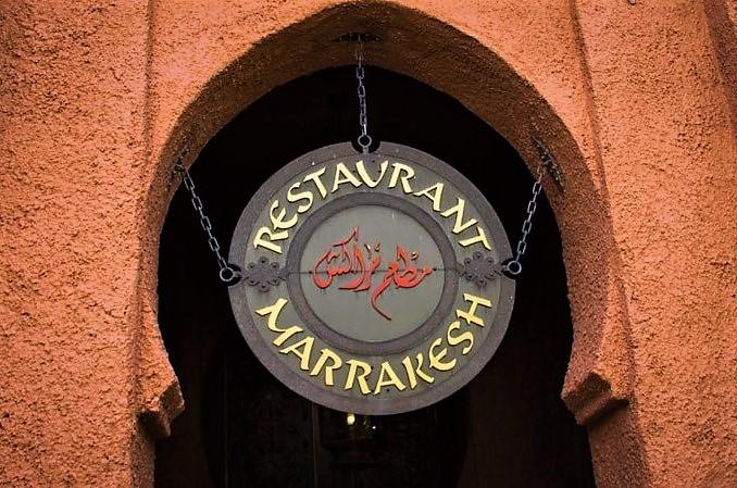 Restaurant Marrakesh Sign